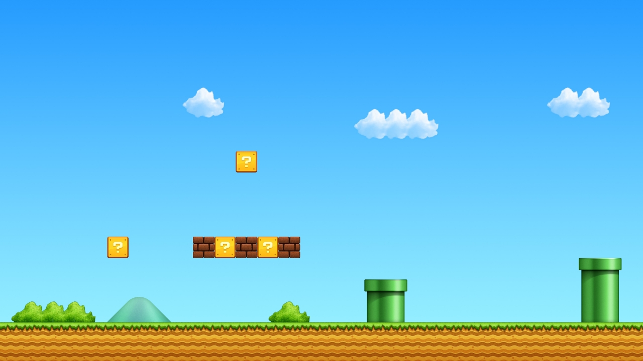 El escenario de Mario Bros - 1280x720