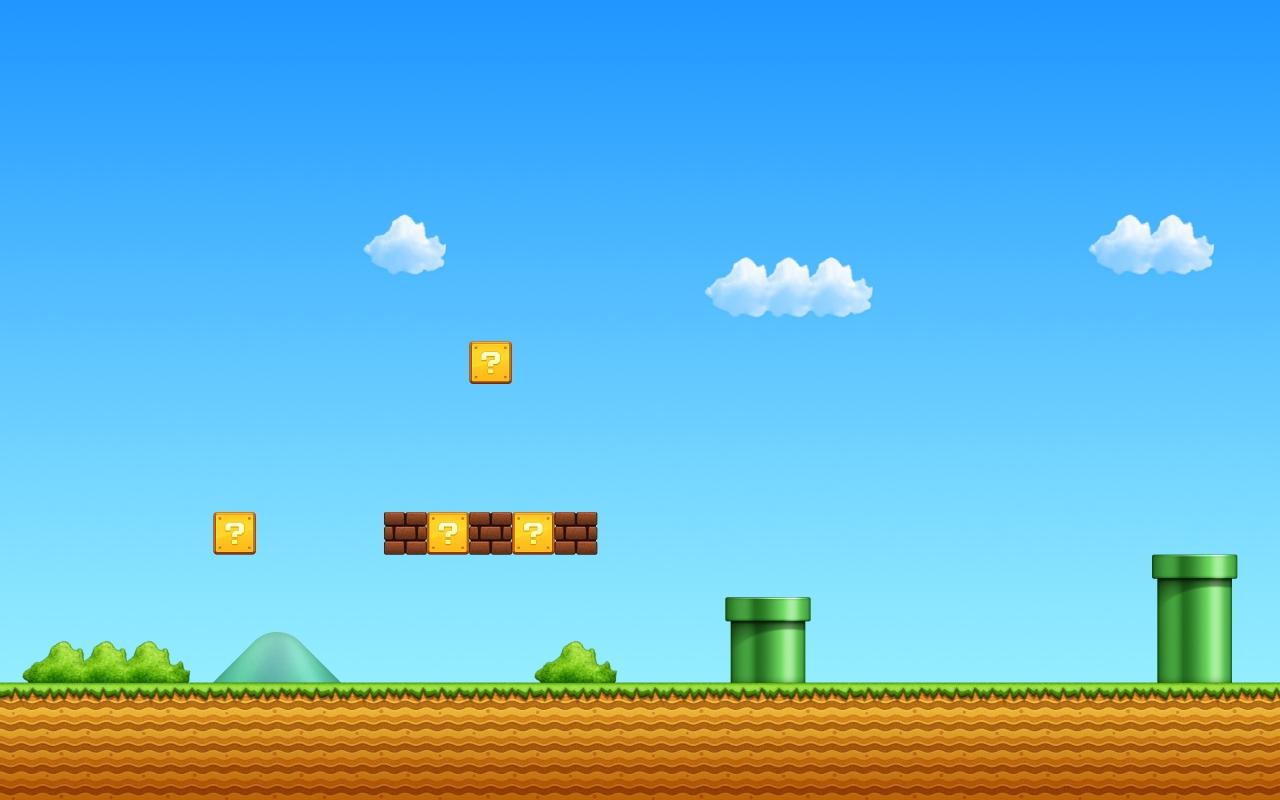 El escenario de Mario Bros - 1280x800