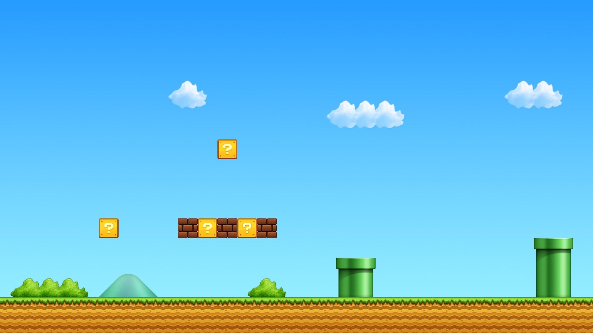 El escenario de Mario Bros - 1920x1080