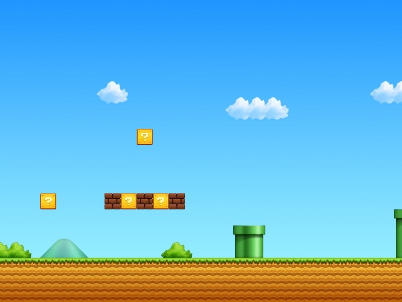 El escenario de Mario Bros - 800x600