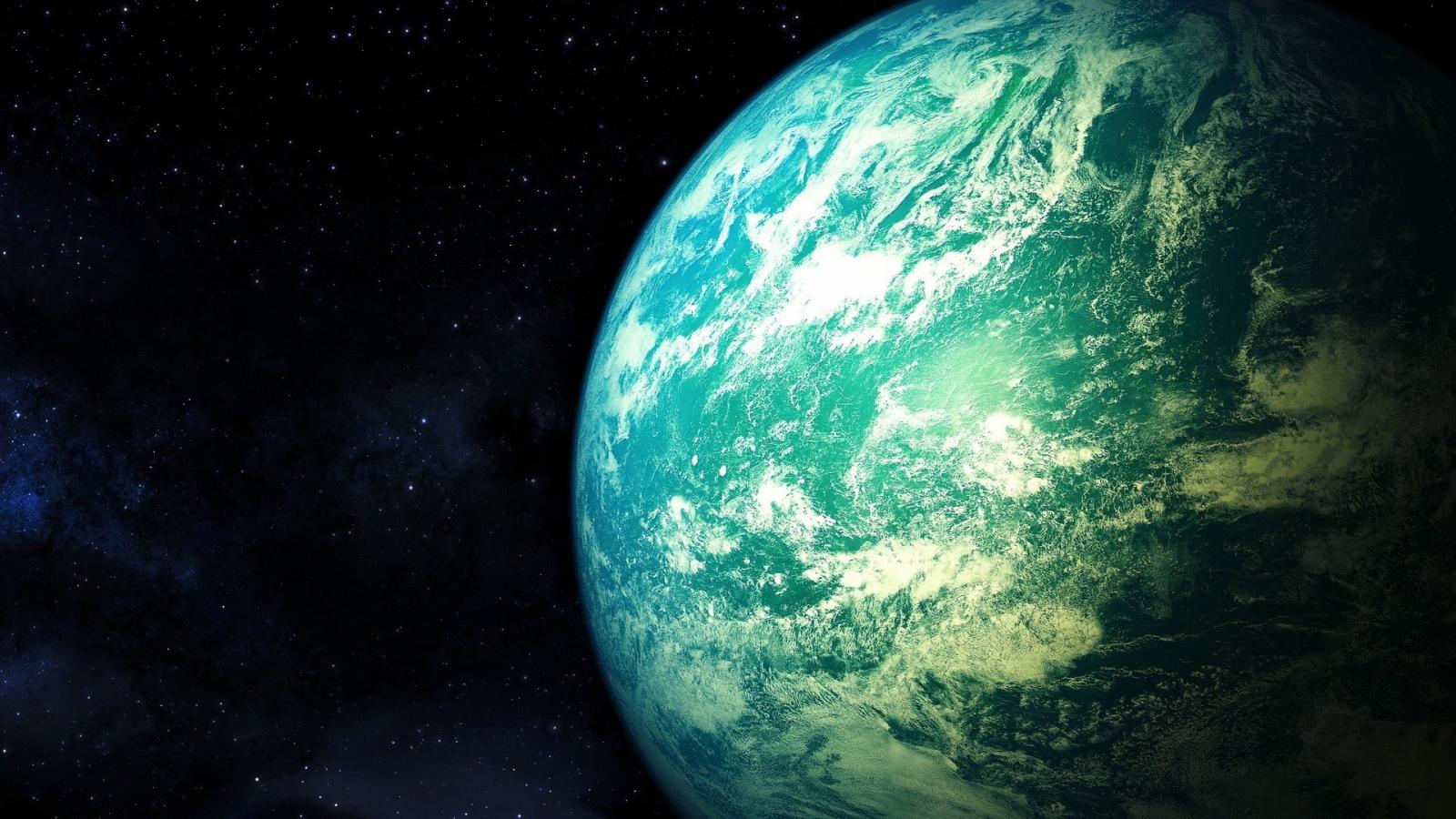 El planeta tierra desde el espacio - 1600x900