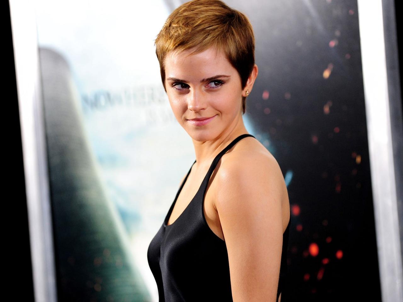 Emma Watson con cabello corto - 1280x960