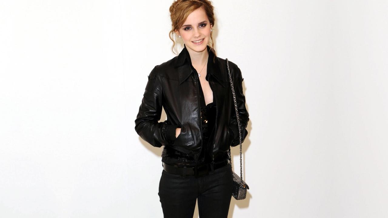Emma Watson de negro - 1280x720