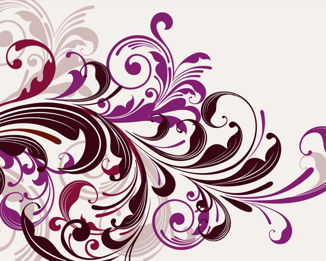 Flores abstractas - 1280x1024