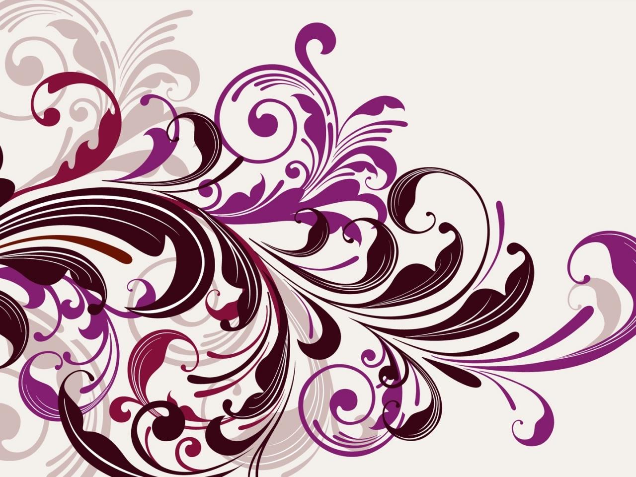 Flores abstractas - 1280x960
