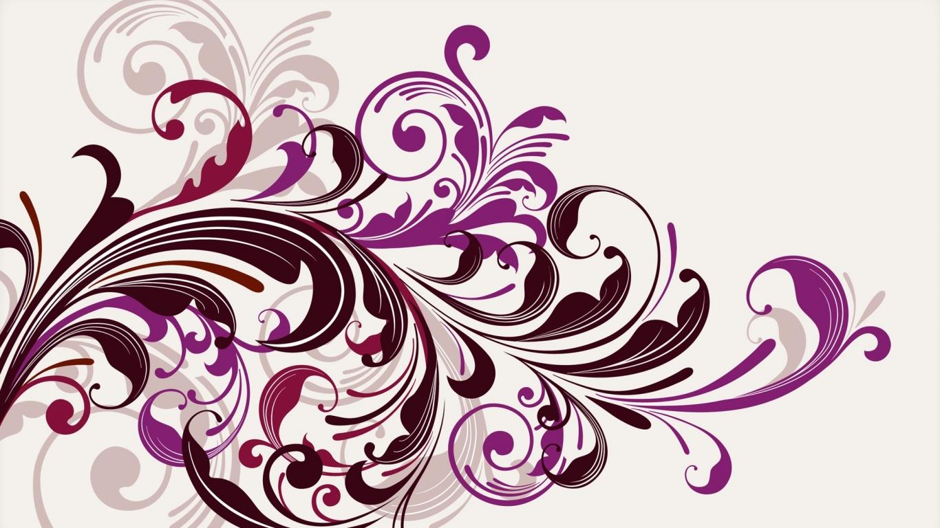 Flores abstractas - 1366x768