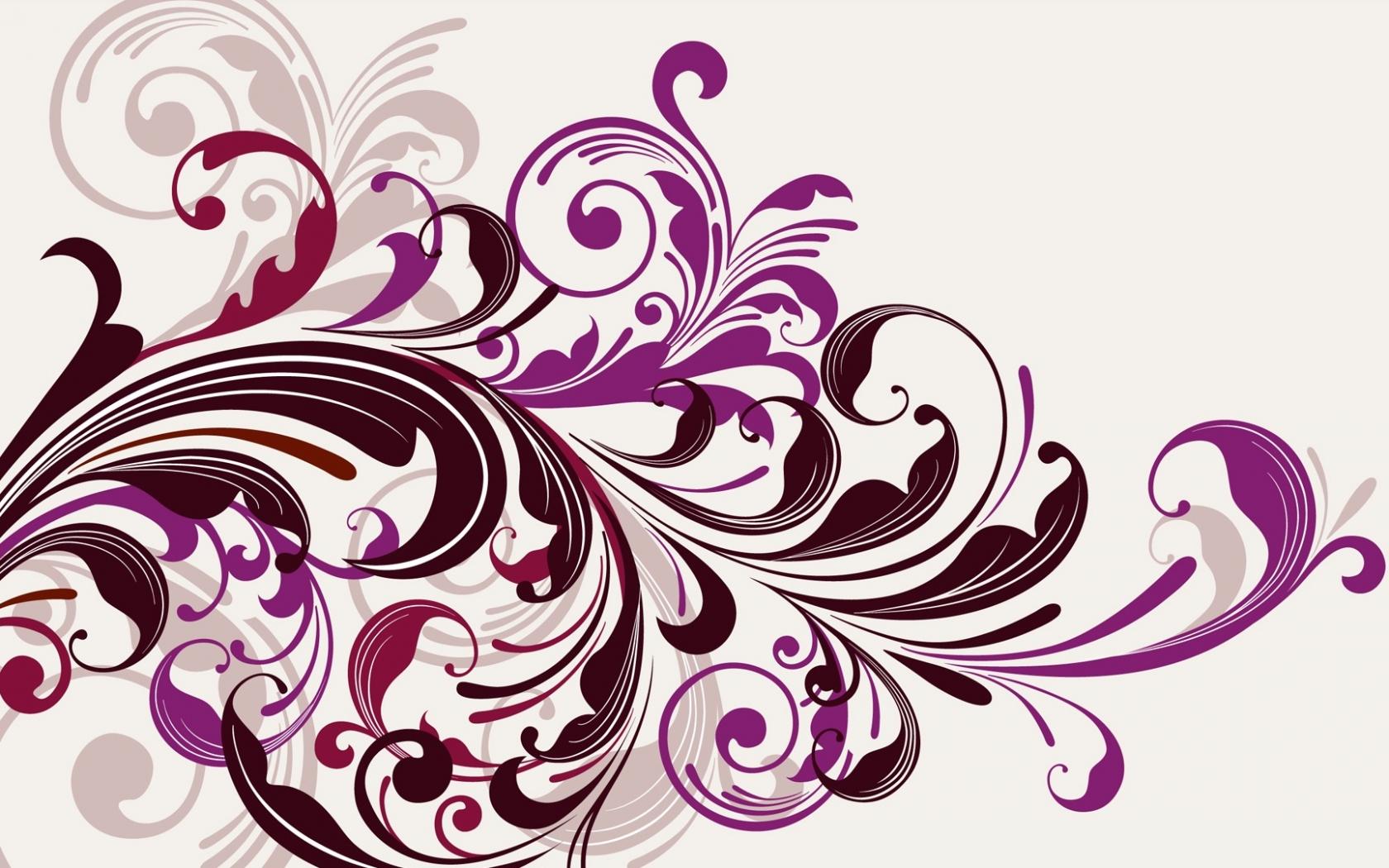 Flores abstractas - 1680x1050