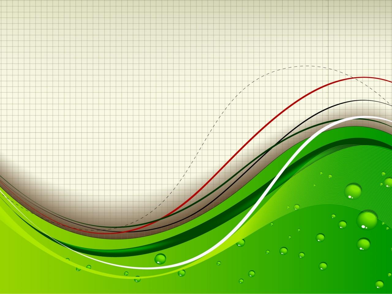 Fondo Blanco Con Verde: Fondo Abstracto Color Verde Hd 1280x960