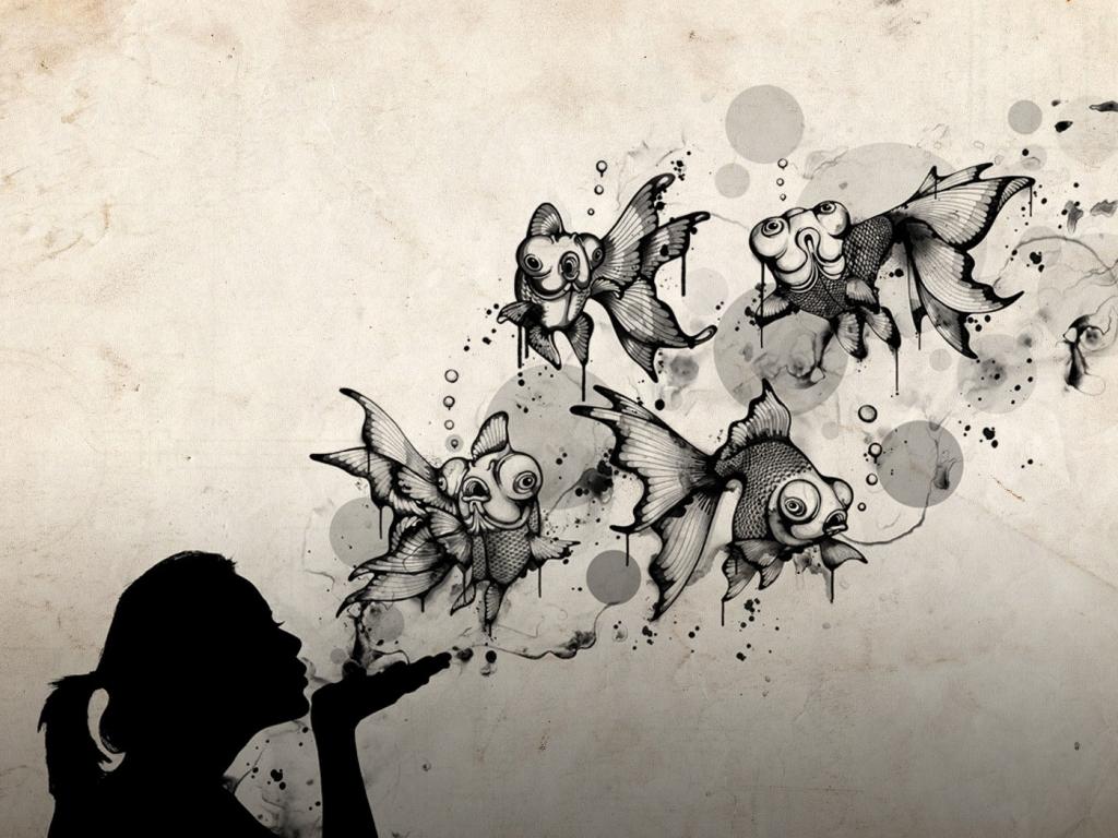 Un beso abstracto - 1024x768