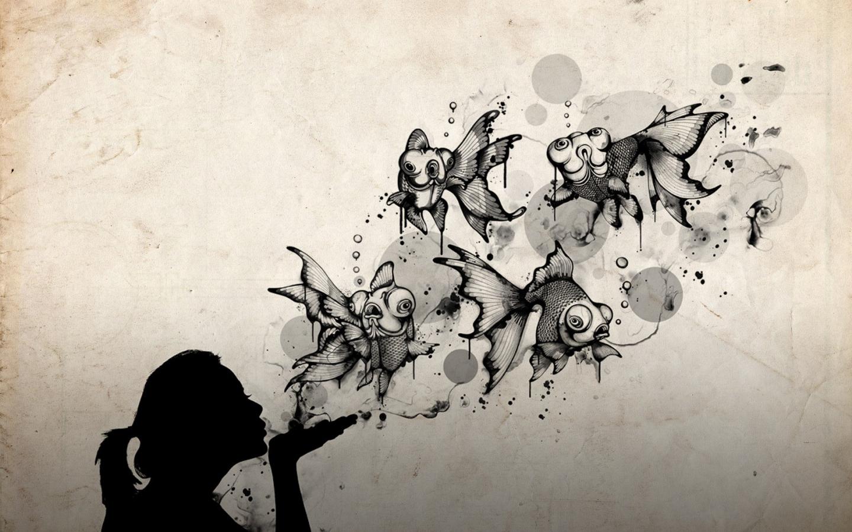 Un beso abstracto - 1440x900