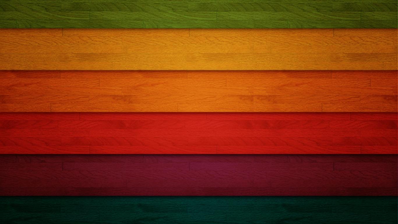 Franjas de colors - 1366x768