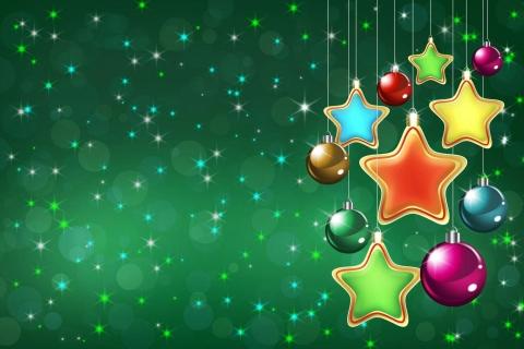 Fondo verde navidad - 480x320