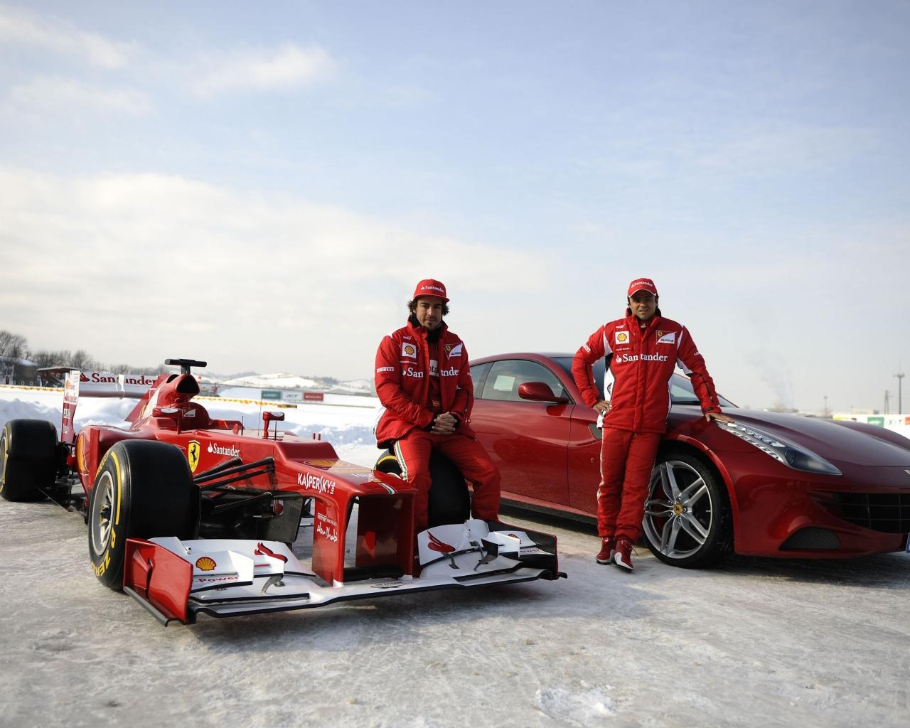 Formula 1 en la nieve - 1280x1024