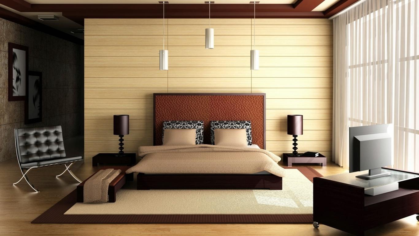 Habitación matrimonial 3D - 1366x768