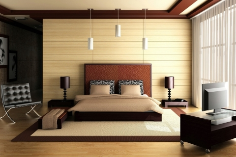 Habitación matrimonial 3D - 480x320