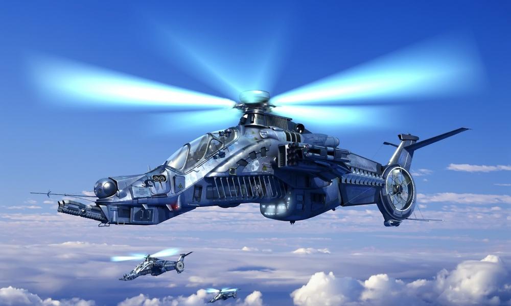 Helicóptero de videojuegos - 1000x600
