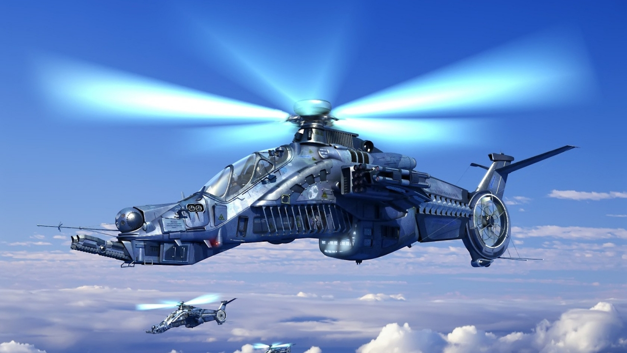 Helicóptero de videojuegos - 1280x720