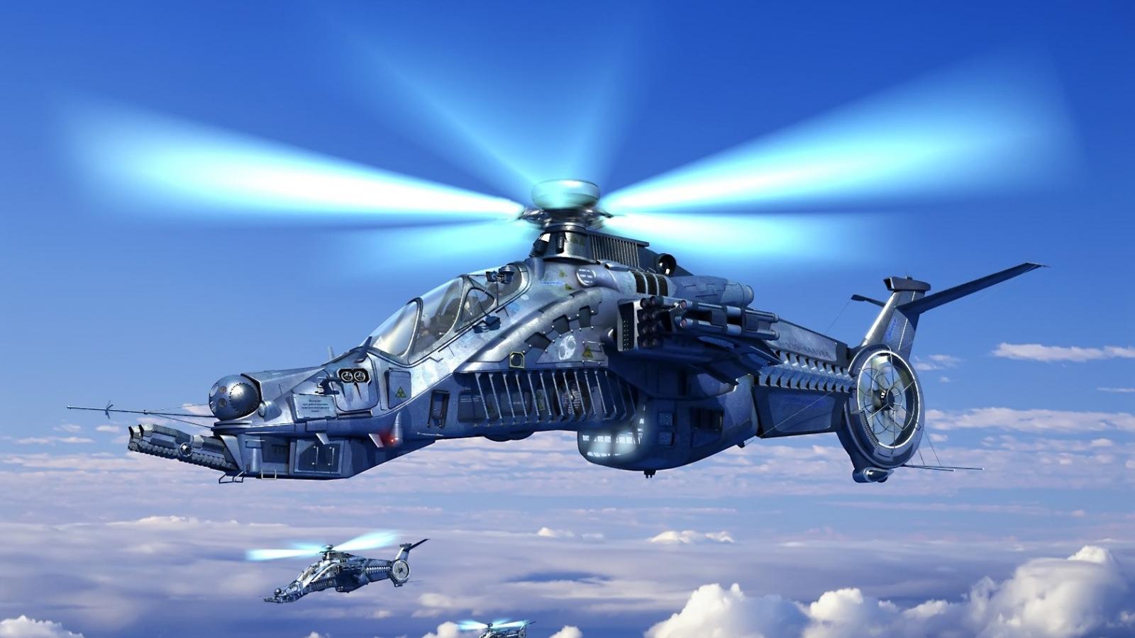 Helicóptero de videojuegos - 1600x900