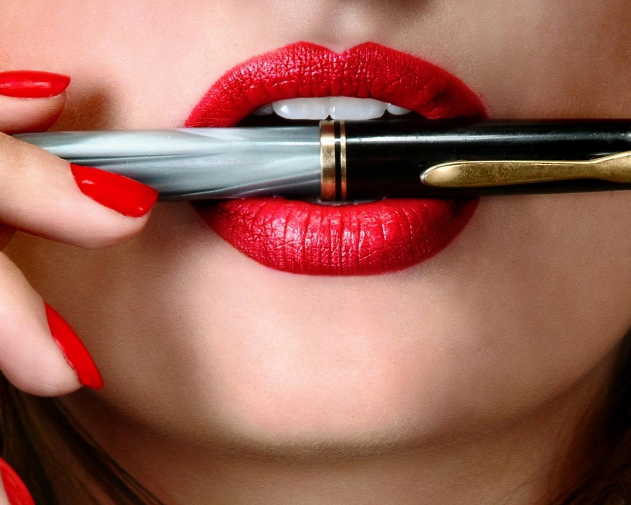 Los mejores labios rojos gratis en porno
