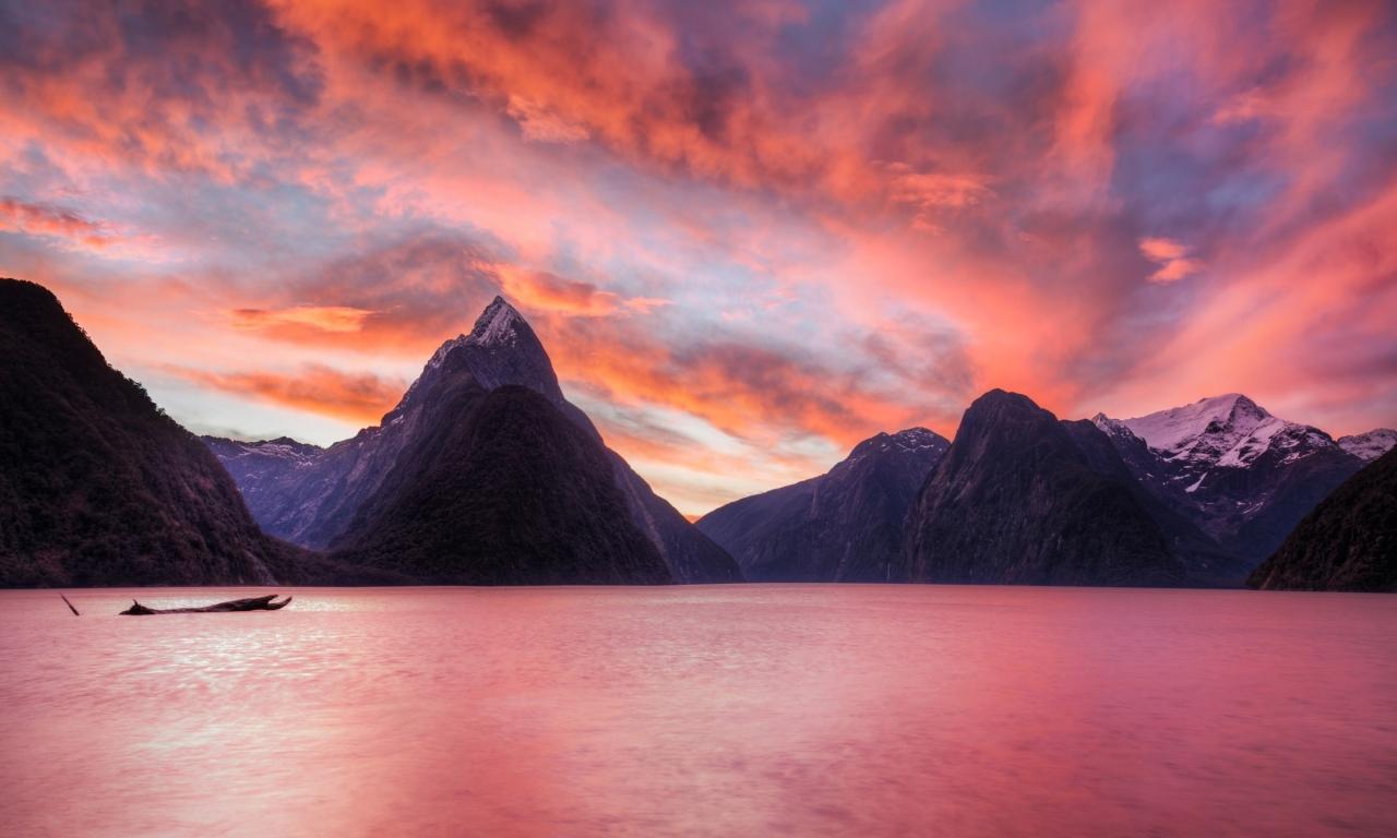 Lago de Nueva Zelanda - 1280x768