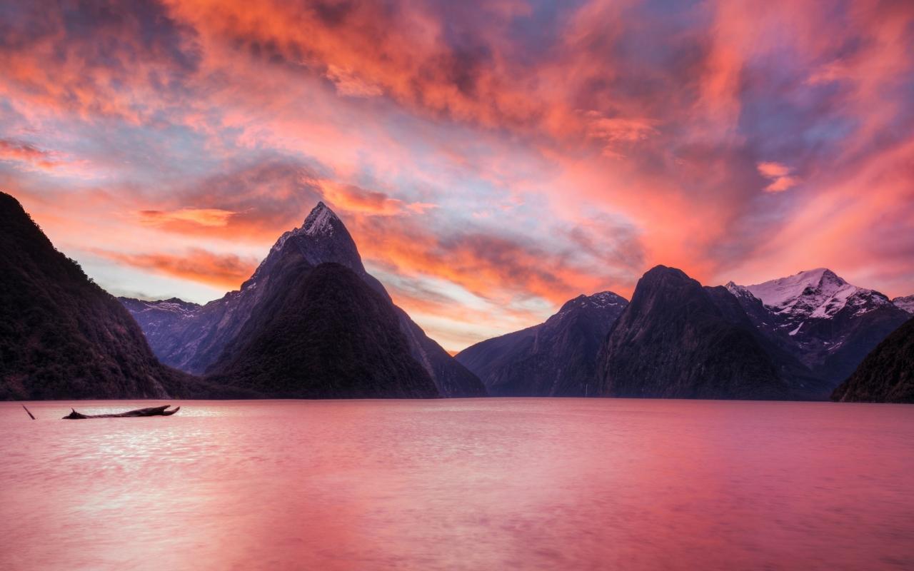 Lago de Nueva Zelanda - 1280x800