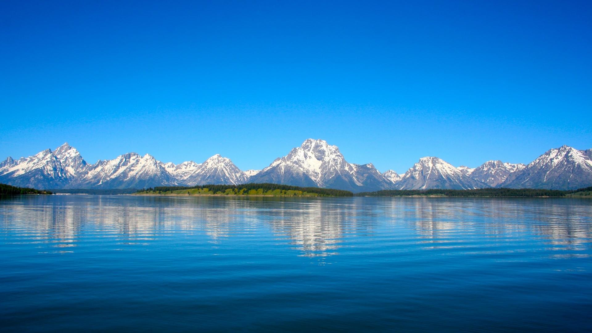 Lago y montañas - 1920x1080