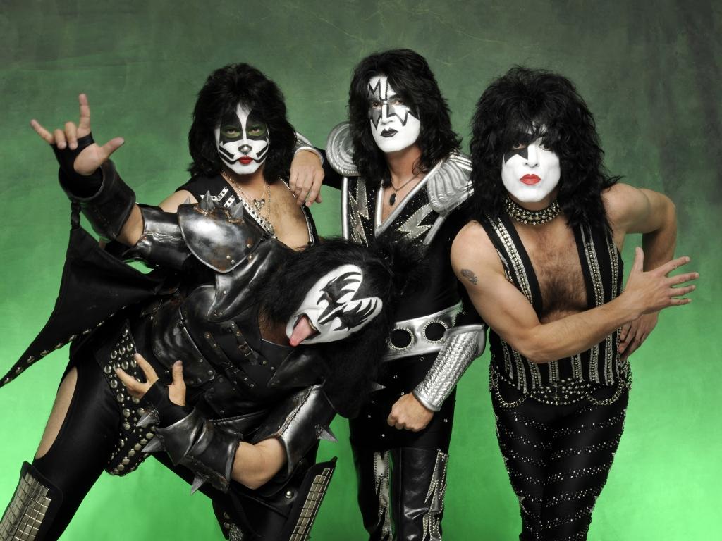 Las caras pintadas de Kiss - 1024x768
