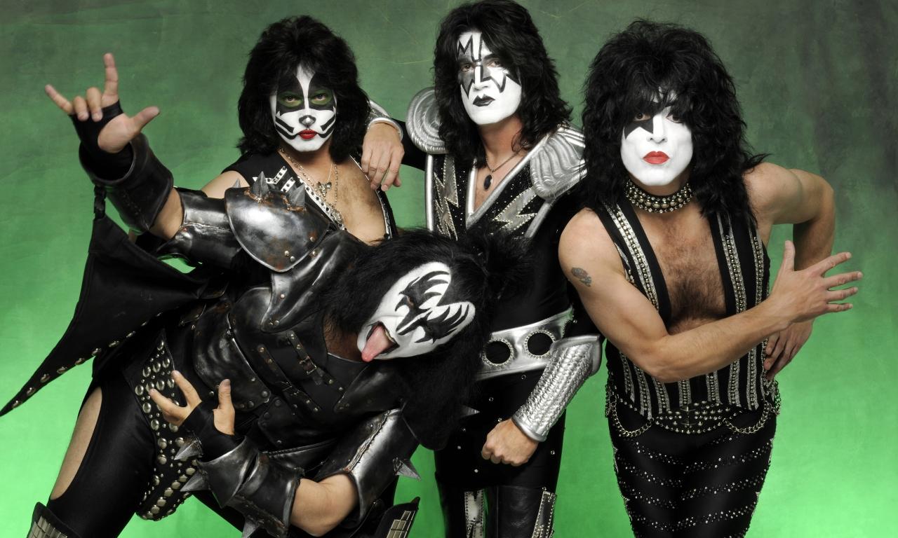 Las caras pintadas de Kiss - 1280x768
