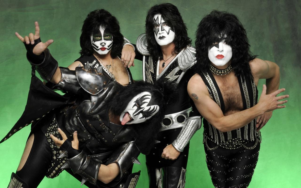Las caras pintadas de Kiss - 1280x800