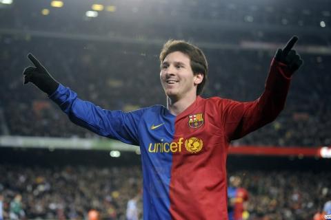 Lionel Messi en el Barcelona - 480x320