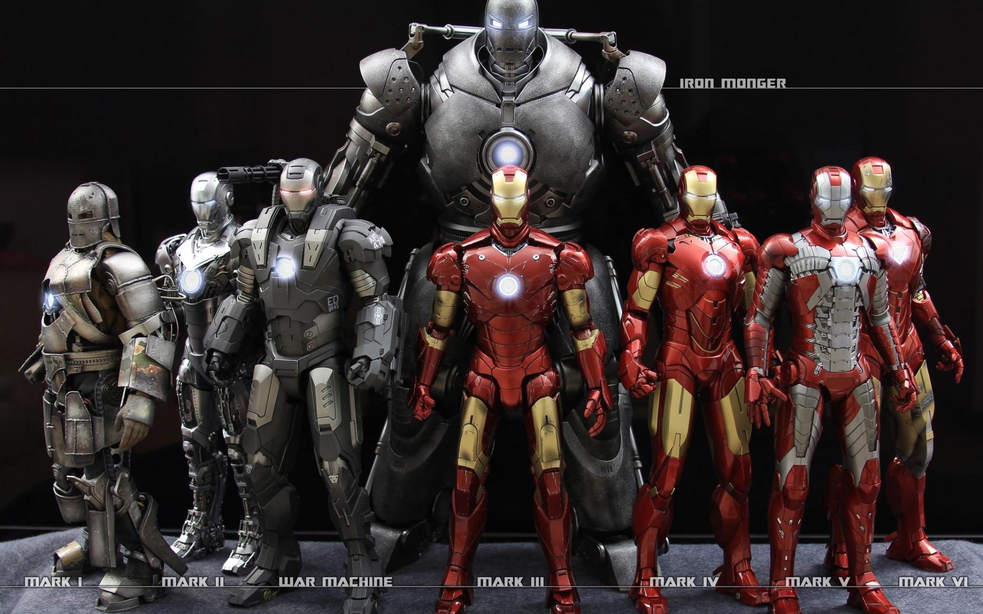 Los trajes de Iron Man - 1920x1200