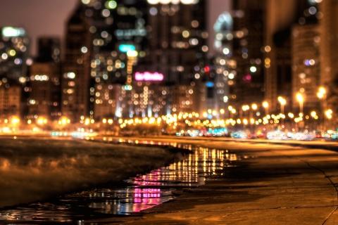 Luces en ciudad - 480x320
