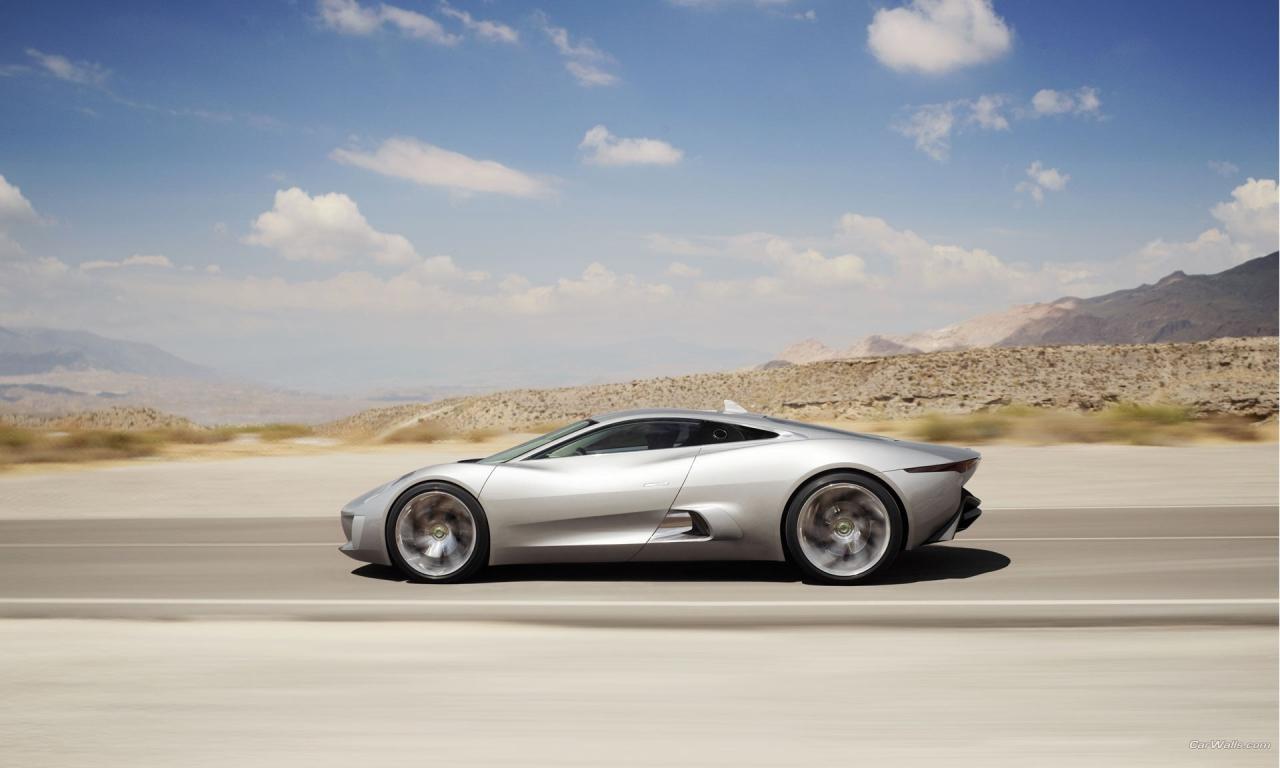 Lujoso auto Jaguar - 1280x768