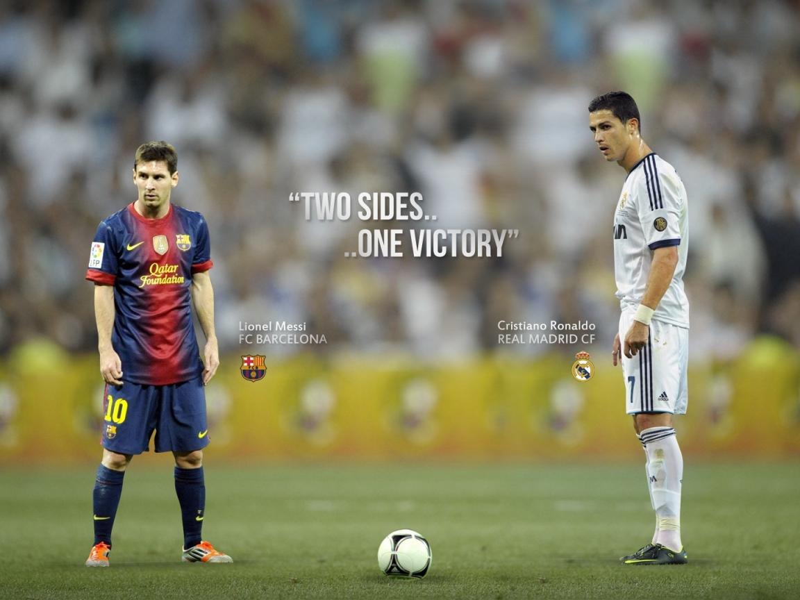 Messi y Cristiano - 1152x864