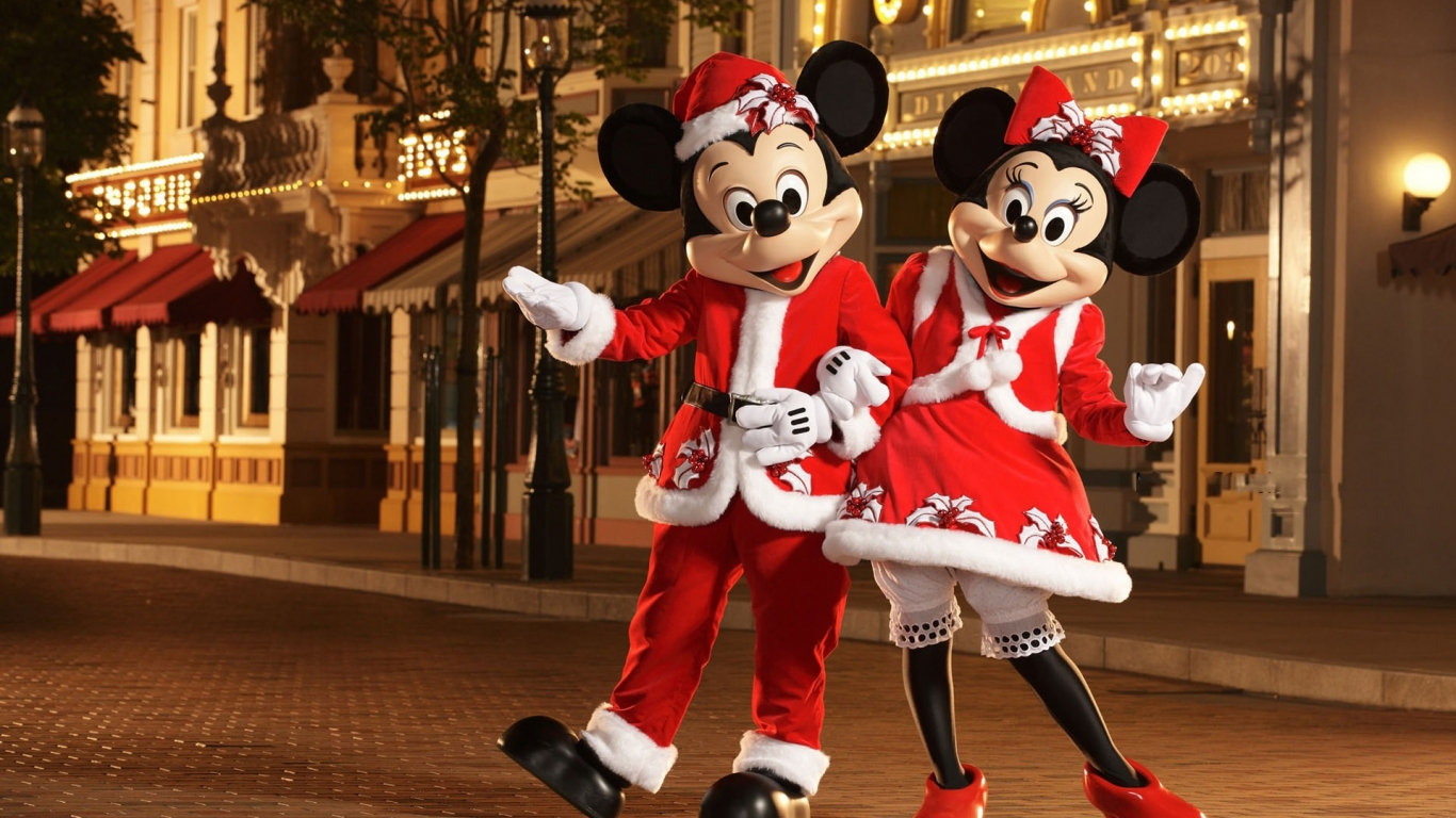 Micky y Mini Mouse - 1366x768