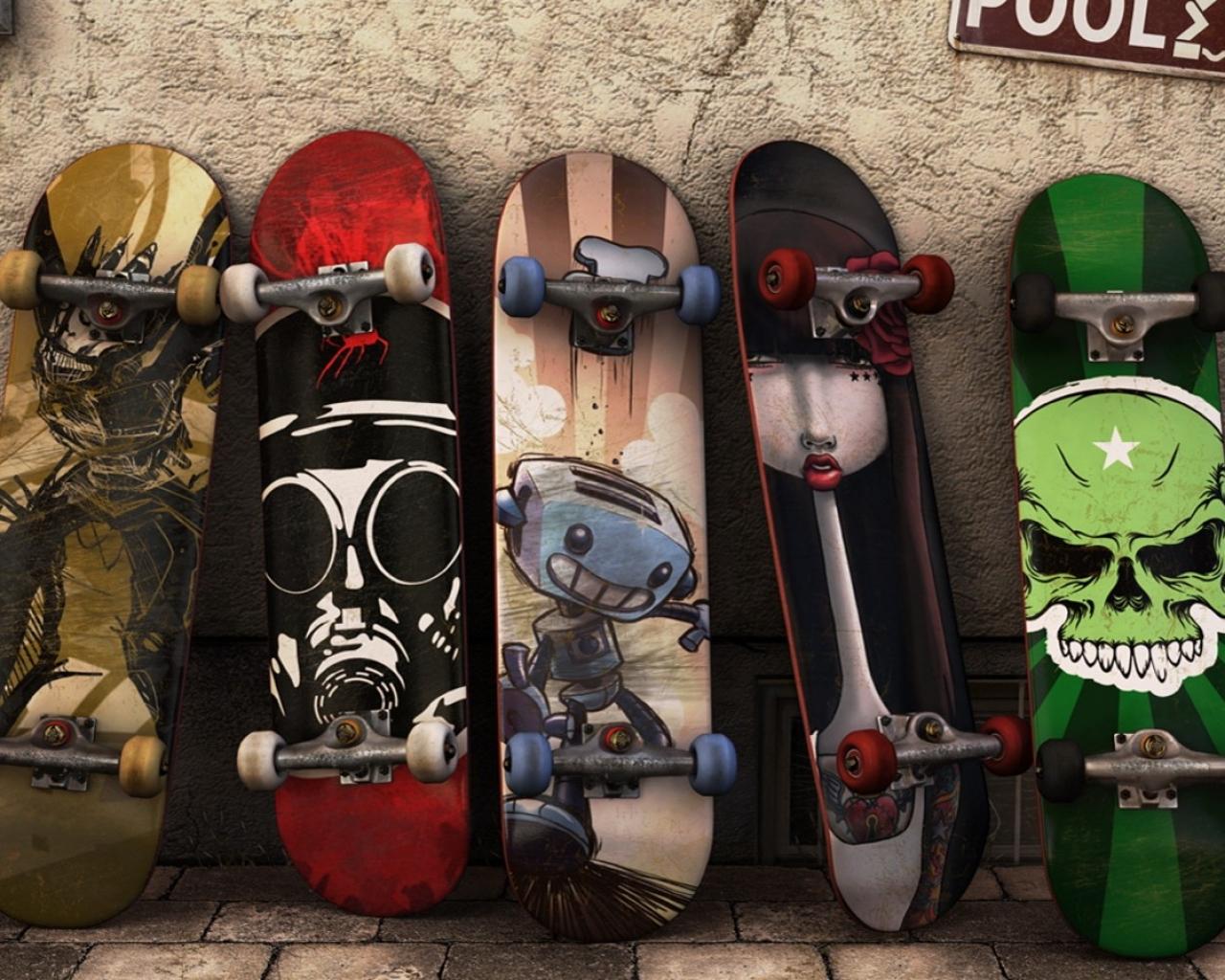 Modelos de tablas de skate - 1280x1024