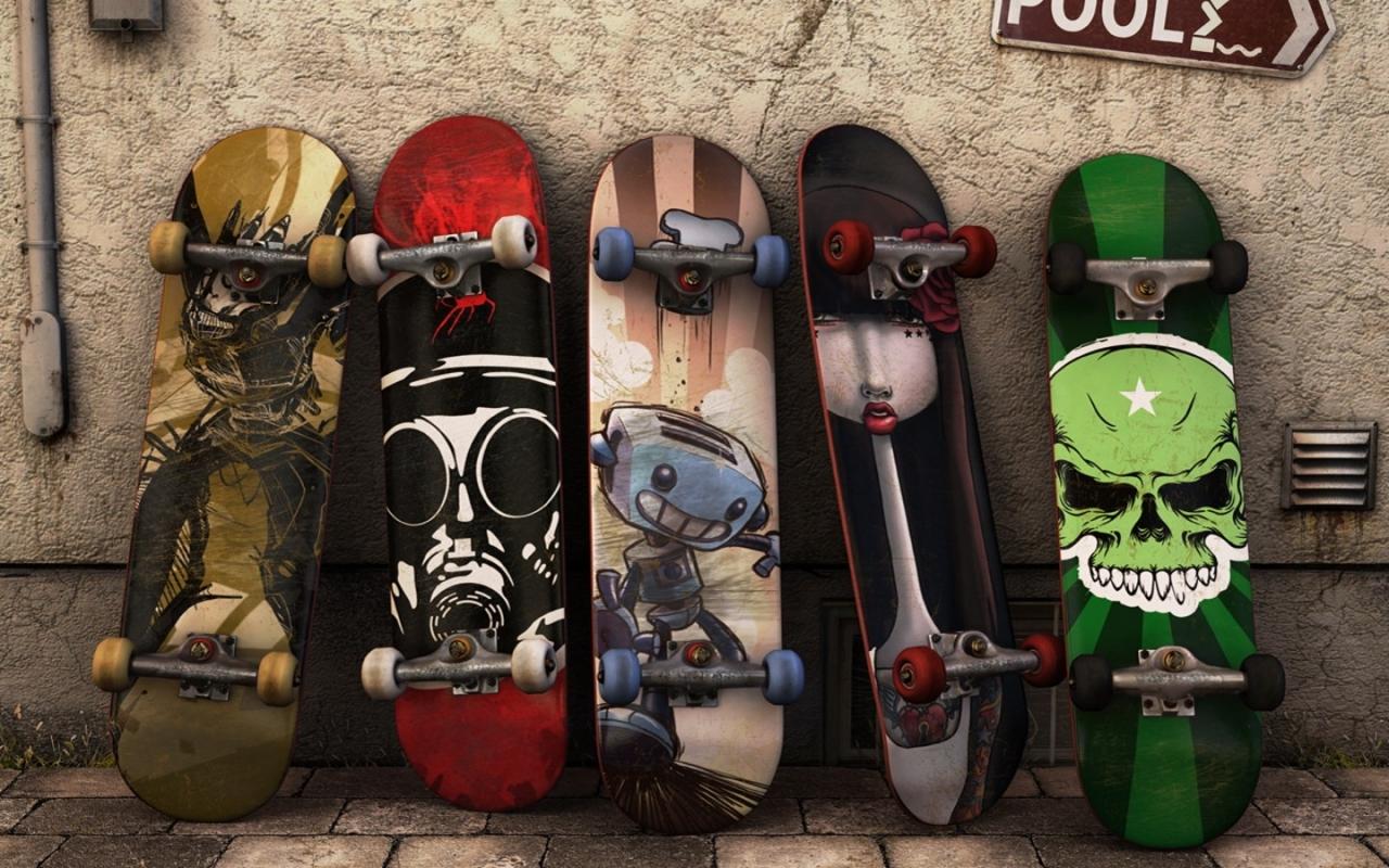 Modelos de tablas de skate - 1280x800