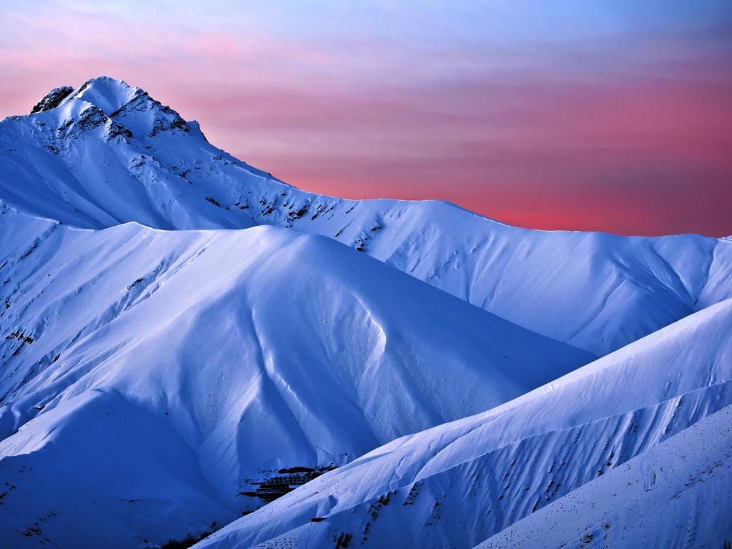 Montaña Nevada 1024x768: Montañas De Nieve Hd 1024x768
