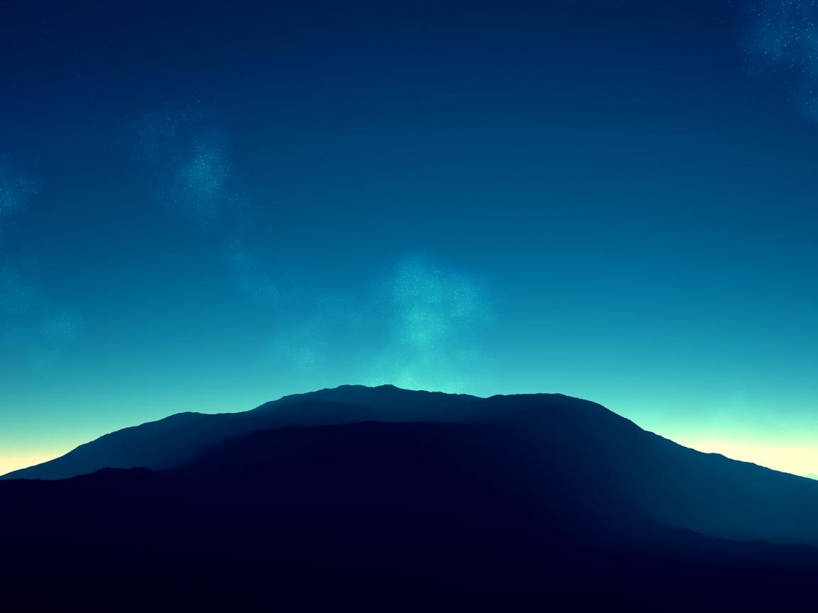 Montañas en el horizonte - 1152x864