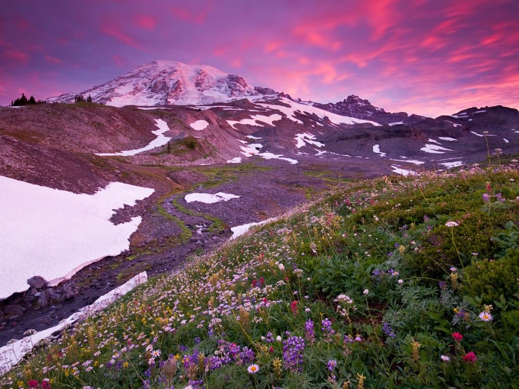 Montaña Nevada 1024x768: Montañas Y Nevados Hd 1024x768