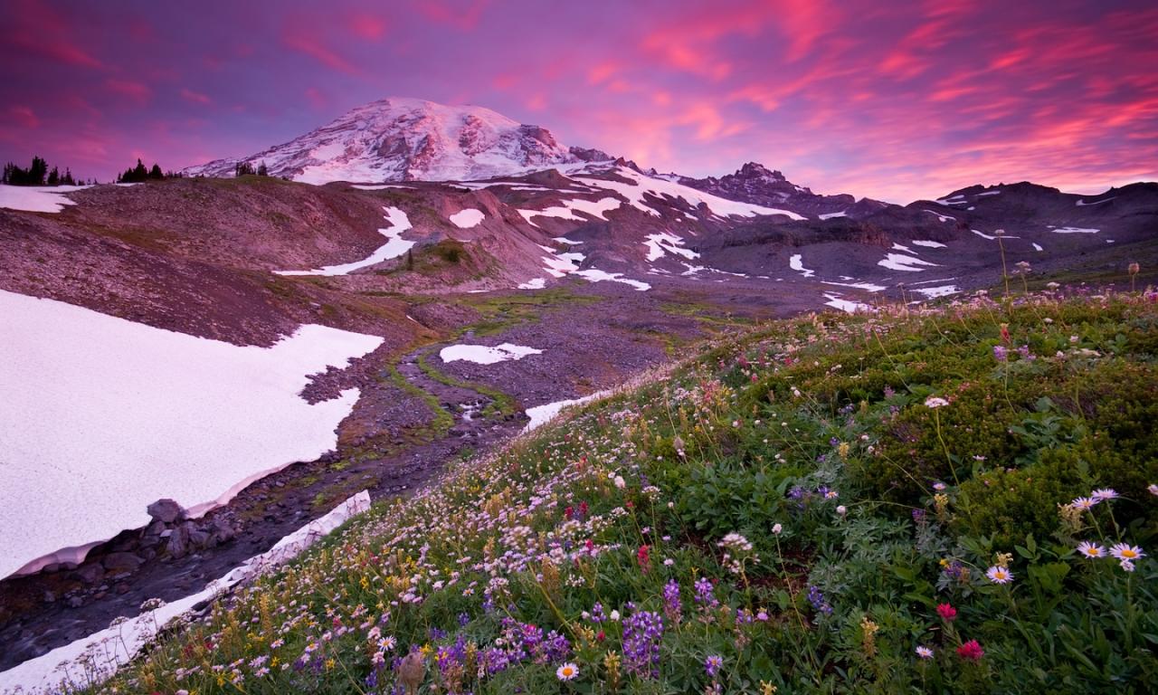 Montañas y nevados - 1280x768