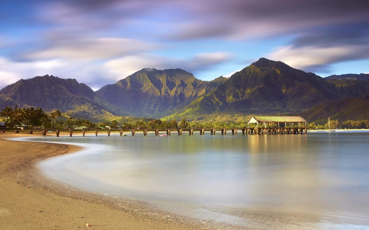 Montañas y playas - 1280x800