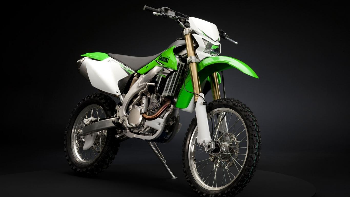 Fondos De Pantalla De Motos: Motocross Kawasaky Hd 1366x768