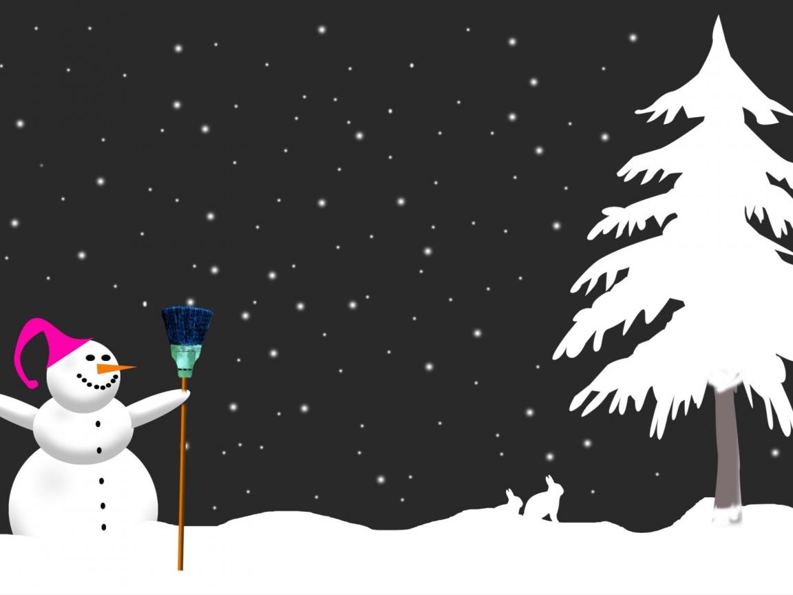 Muñeco de nieve - 1152x864