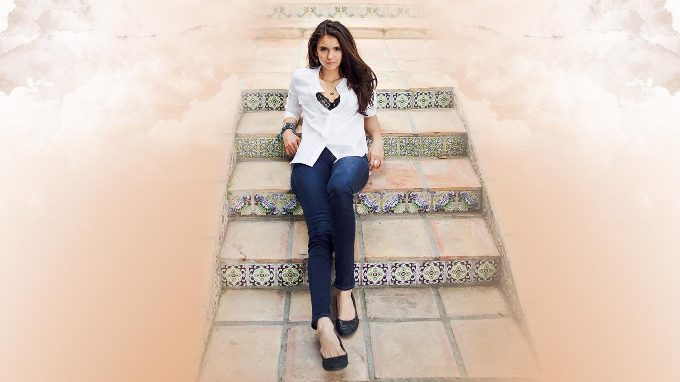 Nina Dobrev fashion - 1366x768