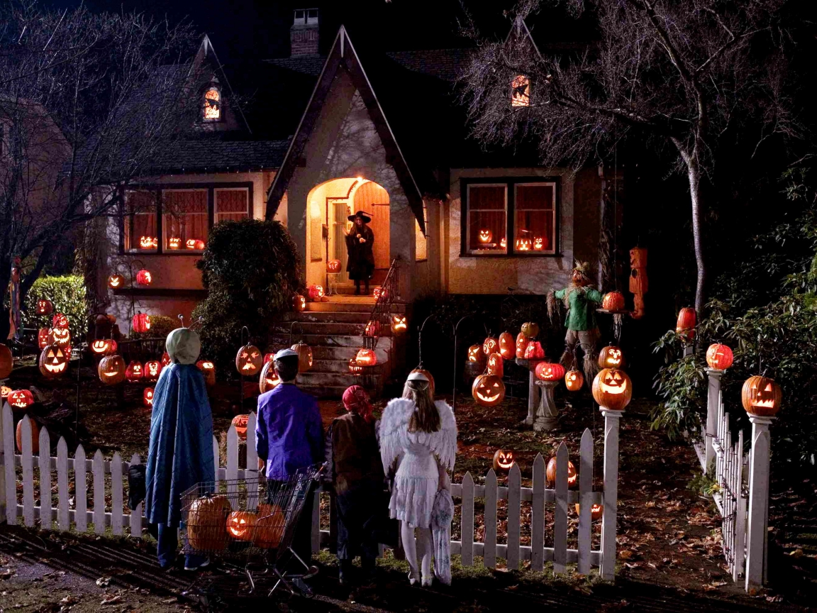 Niños en halloween - 1152x864