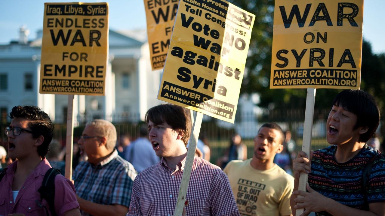 No a la guerra con Siria - 1280x720
