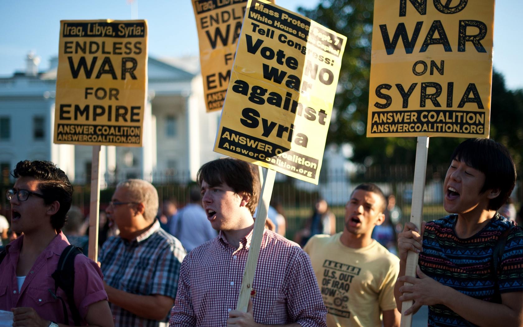 No a la guerra con Siria - 1680x1050