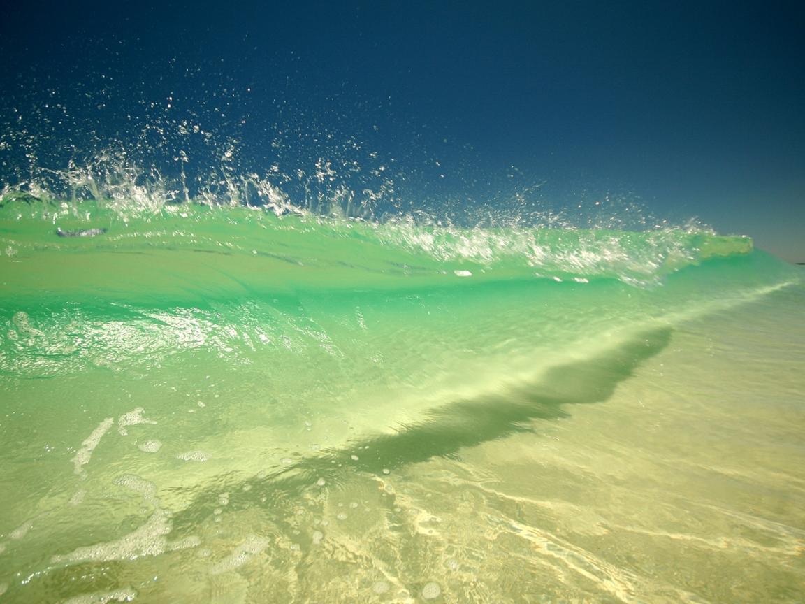 Olas en playas - 1152x864