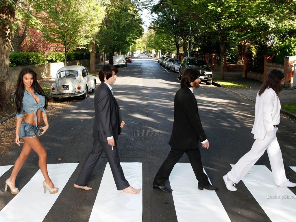 Parodia de Los Beatles en la pista - 1024x768